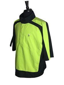 Foot Joy DRYJOYS Green/Black Golf 1/4 zip Pullover S/S Jacket XL Windbreaker FJ
