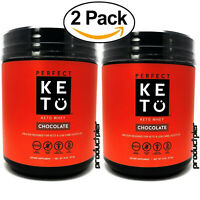 X2 Perfect Keto Chocolate Whey Protein Powder Isolate W/ MCT Powder 100% Grass