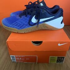 Nike Metcon 3 Paramount Blue White 852928-400 Mens US 10.5 UK 9.5 Gym Crossfit