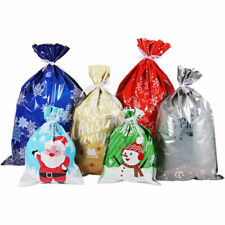 30PCS XMAS CELLOPHANE CELLO GIFT BAGS FOR LOLLIPOPS, CAKE POPS, SWEETS PARTY BAG