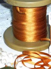 4 YARDS BUCILLA  - 4mm GOLD 100% Silk Ribbon Vintage German Doll Dress Trim