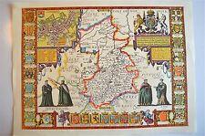 LOVELY VINTAGE REPLICA  JOHN SPEED MAP OF CAMBRIDGESHIRE CIRCA.1610 CAMBRIDGE
