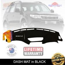 DASH MAT Fits SUBARU Forester SH Jan/2008-Dec/2013 all Models BLACK DM1069