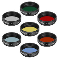 "Neewer 1.25"" Telescope Moon and Skyglow Filter CPL Filter 5 Color Filters Set"