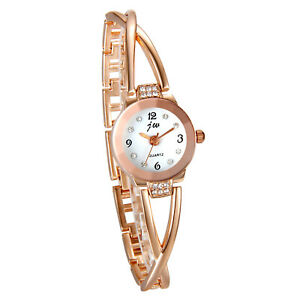 Women Analog Quartz Crystal Digital Dial Wrist Watch Band Cross Strap Bracelet