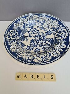 "MASON'S ~BLUE BALIK~ 9"" rimmed flat soup bowls x 3"