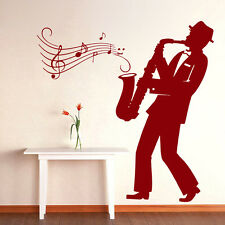 Music Wall Decals Saxophone Jazz Orchestra Vinyl Decal Sticker Home Decor ML36