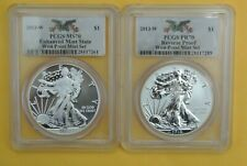 2013-W 2-COIN SILVER AMERICAN EAGLE WEST POINT SET PCGS PR70/MS70