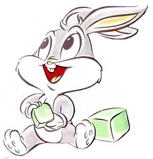 """5.5"""" Looney tunes babies bugs bunny wall safe sticker border cut out character"""