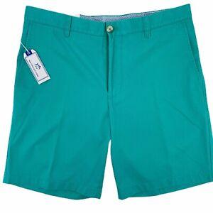 Southern Tide Original Skipjack Tropical Palm Green Chino Short Mens Size 36 9″