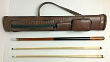 Awesome RARE Randy Mobley Merry Widow Pool Cue with Two Shafts and Case