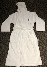FRETTE 100% Cotton Turkish Terry Shawl Collar White Unisex Hooded Spa Robe Large