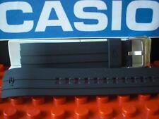 Casio Watch Band EQW-A1300, EQS-A500 Black Resin Strap w/ Steel buckle