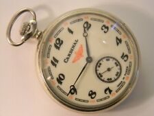 Pocket Watch - Runs Well Vintage Russian Made Cardinal Locomotive Mens