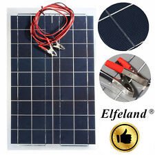 Elfeland 30W 12V Semi Flexible Solar Panel Battery Charger + Cable For RV Boat