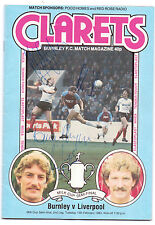 BURNLEY V LIVERPOOL 1983 MILK CUP SEMI-FINAL PROG ORIG HAND SIGNED WITH 8 X SIGS