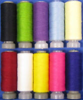 10 Spools of All Purpose Polyester Sewing Thread Cottons