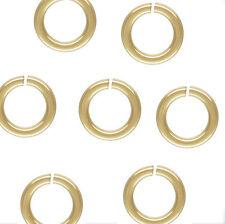 20 piece 14k Gold Filled 22 gauge  .64mm x 4mm Open Jump Ring Findings