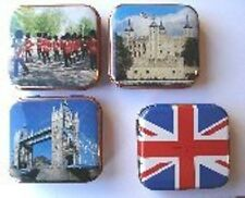 GOLF GIFT - LONDON THEMED TIN OF 35 WHITE TEES 55mm - TOWER BRIDGE SOLDIERS MALL