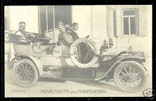 Nicholas Nikola I King of Montenegro rppc Car ca 1910