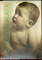 """Antique Photo -  Tinted, Close Up of Very Cute Baby Looking Up, No Top 8 1/2"""" x"""