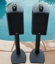 B&W Bowers & Wilkins 805 Nautilus Speakers Black Pair with Stands