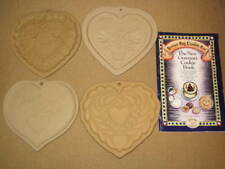 4 Brown Bag Cookie Art Mold HEARTS Hill Design 1985-86-88-94 w/ Recipe Booklet
