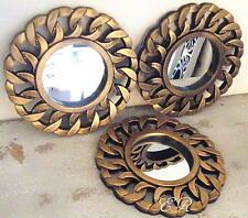 Wandspiegel 3er Set Spiegel Dekospiegel Wanddekoration Gold Ornament Kette Neu
