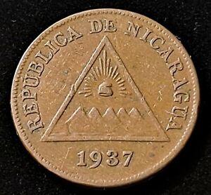 1937 Nicaragua 1 Centavo Nice Coin