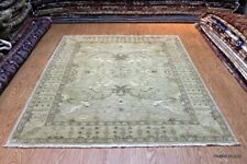 6' X 8' DECORATIVE DESIGNER RUG AUTHENTIC HANDMADE RUG. SILVER WASHED OUT COLOR