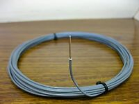10 feet 18 AWG Silver Plated PTFE Wire Gray Solid 1 Strand SPC
