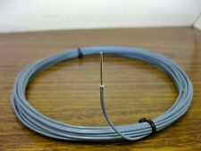 10 feet 18 AWG Silver Plated PTFE Wire Gray Solid 1 Strand
