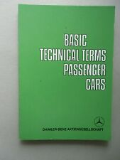 Basic Technical Passenger Cars Daimler-Benz AG