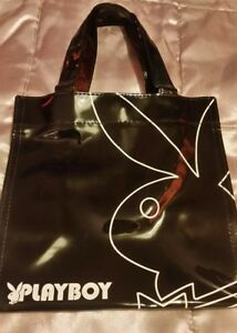 Woman's Playboy mini shopper bag ☆ small size ☆New❤ Black pantant