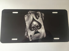 SKULL ACE OF SPADES High Detailed Aluminum Novelty License Plate