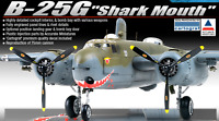 Academy 1:48 B-25G Mitchell Shark Mouth Edition Plastic Scale Model Kit #12290