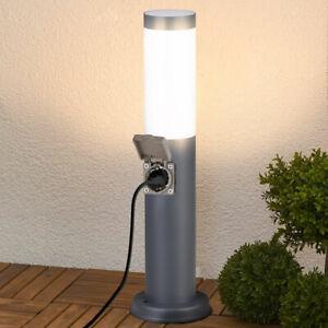 Lampada Paletto Luce Giardino con Presa Shucko Palo Illuminazione Esterno 45 cm