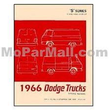Factory Shop Service Manual for 1966 Dodge A100 Trucks & Vans