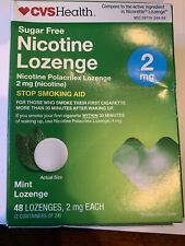 CVS Sugar Free Nicotine Mint Lozenges 2mg. 48 Mint Pieces Exp 7/21