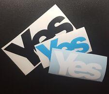 Yes Scotland -  Scottish Independence / Indyref / Indy2 sticker x2