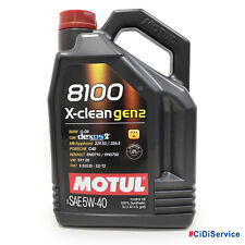 5 lt Motul 8100 X-Clean Gen2 5W40 Olio Motore 100% Sintetico ACEA C3 API SN CF