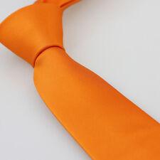 Coachella Tie Orange Solid Colour Necktie SLIM SKINNY Tie Microfiber Quality Tie