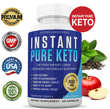 Instant Pure Keto Weight Loss Pills Ketogenic Instaketo Insta Supplement BHB