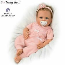 "Cooing Chloe 18''  ""Breathing"" Silicone Baby Doll New by Artist Linda Murray"