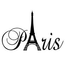 Paris Eiffel Tower ART Wall Stickers Home Room Decor Vinyl DIY