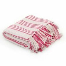 Überwurf Baumwolle Streifendecke Tagesdecke Bettüberwurf 125x150 160x210 220x250