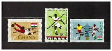 S16314) Ghana MNH 1965 Black Stars Overprints 3v Soccer Football