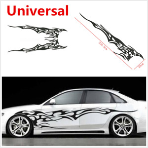 1 Set Universal Car Racing Body Side Decal Vinyl Flame Graphics Stripes Sticker