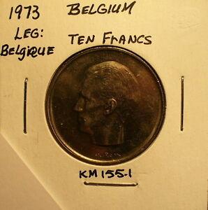 Belgium 10 Francs 1973 Unc