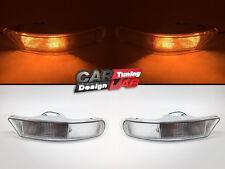 (2) Clear Front Bumper Flasher Light Lamps For SUBARU Impreza RX GC GF 93-98 GC8